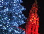Рождественские огни Brussels Брюсселя