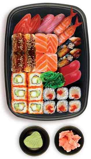 Блюда японской кухни - суши