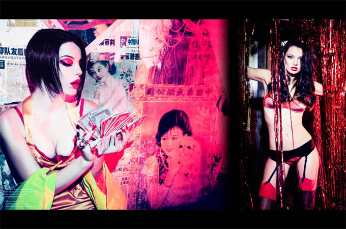 Еллен фон Унверт і японське кіно. Фото Ellen von Unwerth