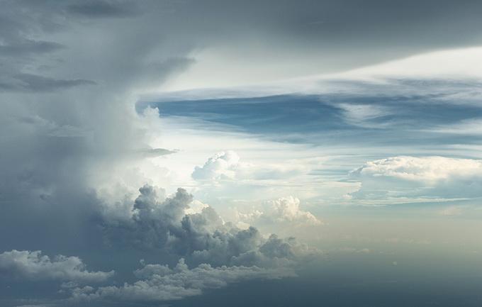 Облака с высоты.