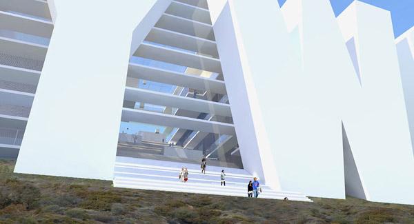 Проект Hollywood Sign Hotel на Голливудских холмах