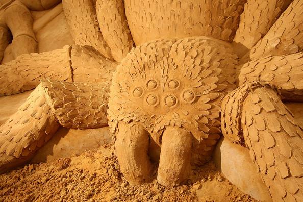 Выставка песчаных скульптурь в Мельбурне